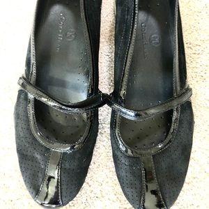 Cole Haan Air Bria Black Mary Jane Flats